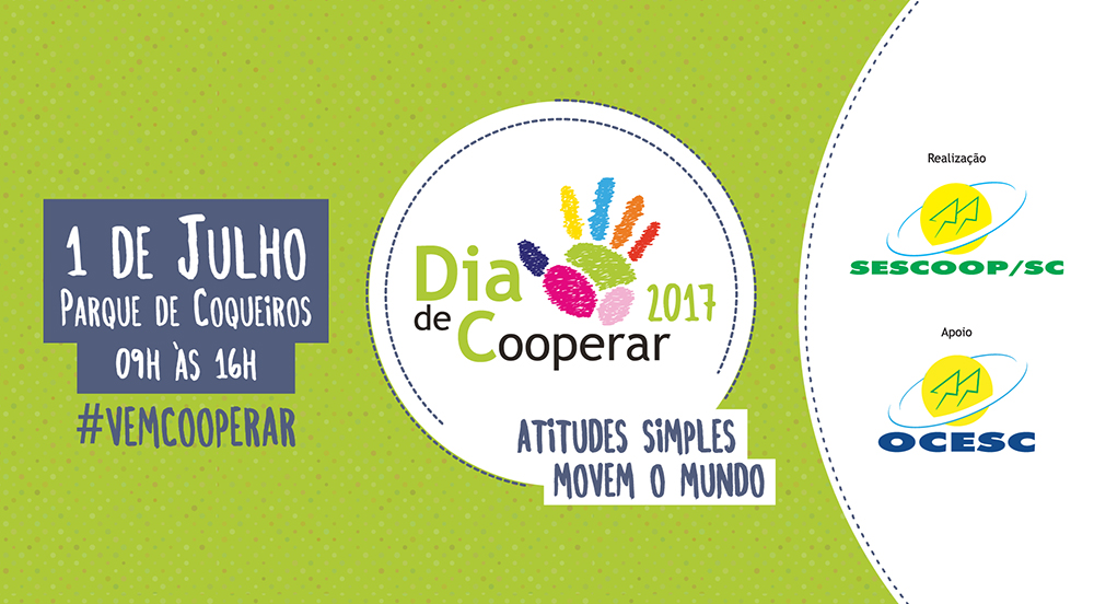 Celebração do Dia de Cooperar será realizada em Florianópolis - Confira a programação!