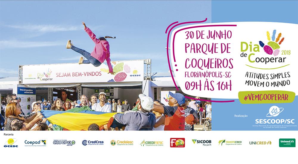 Cooperativas realizam Dia de Cooperar em Florianópolis no dia 30 de junho