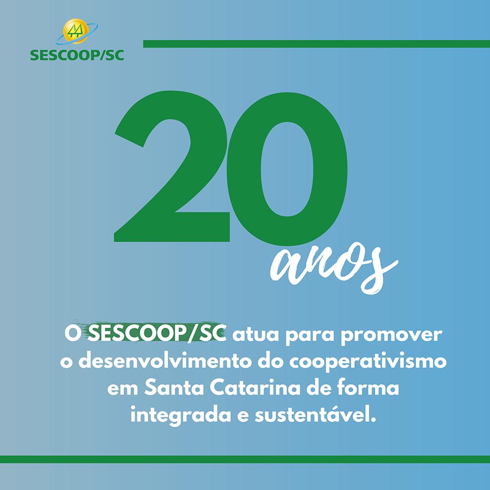 SESCOOP/SC: 20 anos formando e desenvolvendo o cooperativismo catarinense