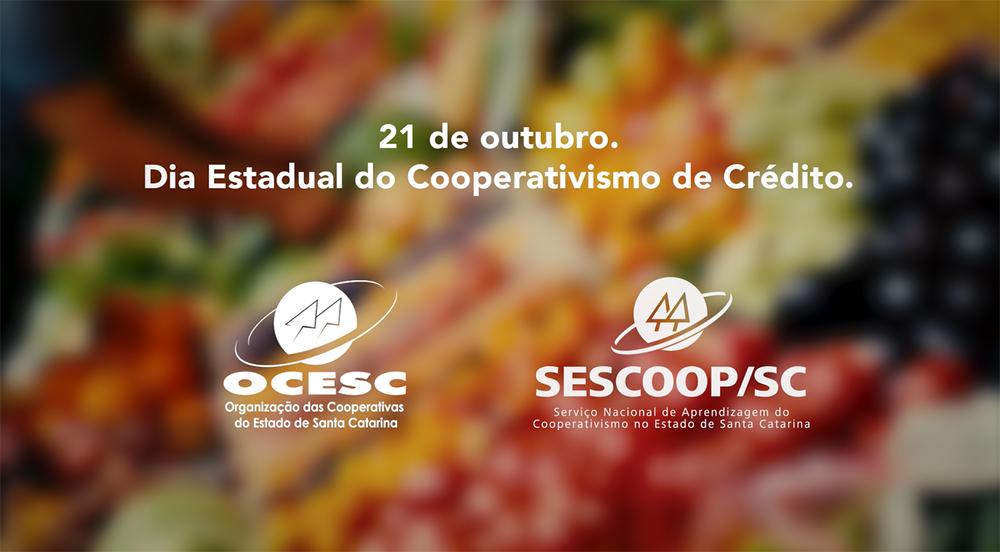 Sistema OCESC lança campanha em homenagem ao Dia Estadual do Cooperativismo de Crédito